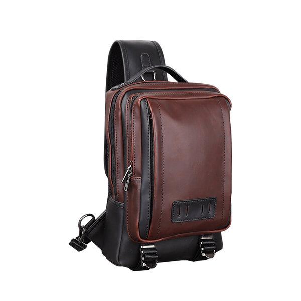 Whatna ボディバッグ・ワンショルダーバッグ メンズ レディース 斜め掛け 左右肩がけ対応 IPAD A4サイズ収納可能 軽量 撥水 ラウン 茶色(6561)元の画像