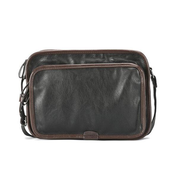 Whatna ショルダーバッグ メンズ メッセンジャーバッグ大容量 盗難防止 皮 革A4 サイズ 収納 通学 通勤鞄 軽量 実用 自転車 かばん男性用(6885)元の画像