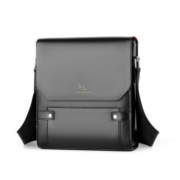 Whatna 2way 革 ショルダーバッグ メンズ ポシェット縦型iPad 収納可 人気型 耐久性 革 レザー 縦型 ビジネスバッグ メッセンジャーバッグ 斜め掛け黒 ブラック ブラウン全2色(HA-063)元の画像