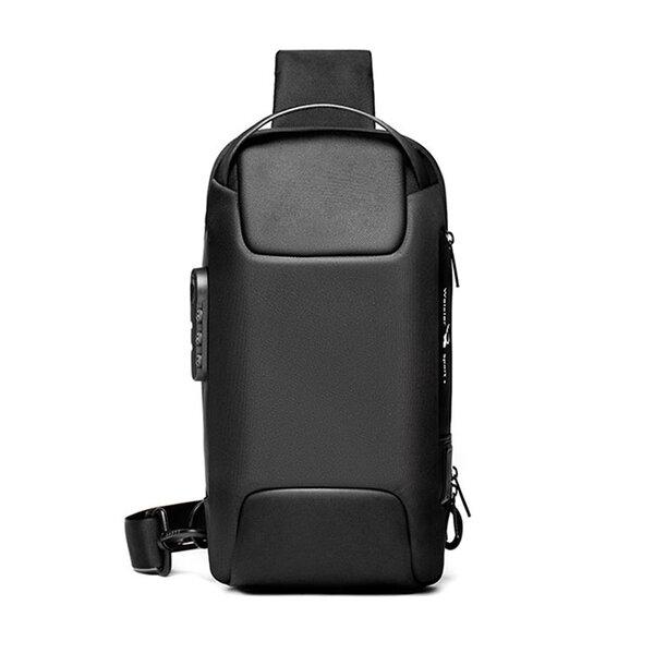 Whatna ボディバッグ メンズ 3way 斜め掛け 手提げ バッグ ショルダーバッグ 大容量 防水 USBポート付き ワンショルダー 軽量 盗難防止 9.7 iPad収納可能 hs-1569元の画像