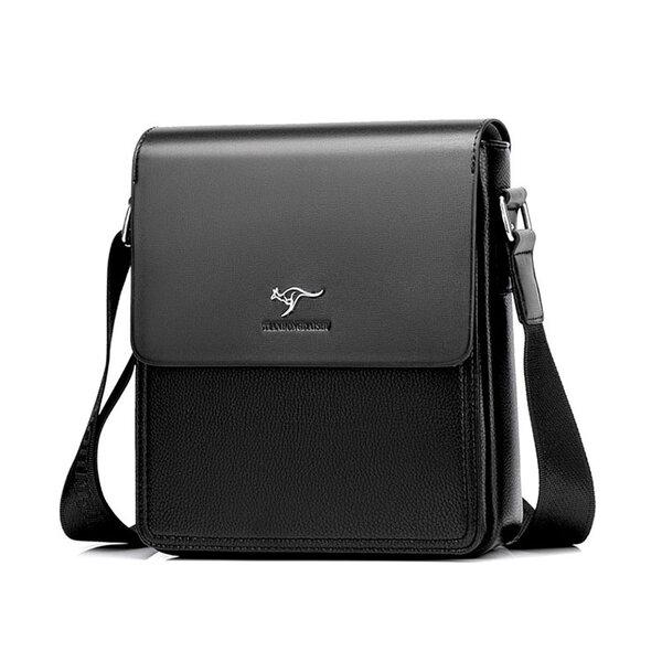 Whatna ショルダーバッグ メンズ メッセンジャーバッグ 大容量 盗難防止 皮革 9.7インチIPAD収納可 サイズ 収納 通勤鞄 軽量 実用 (TH6550-2)元の画像