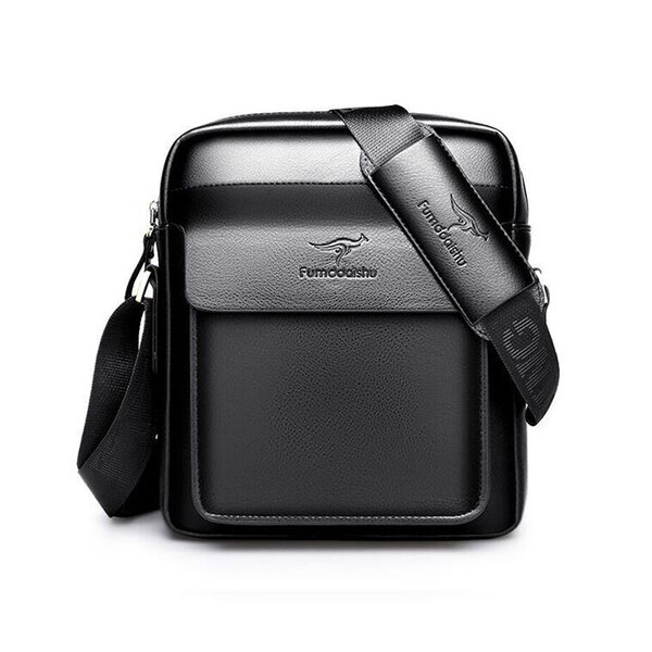 Whatna ミニショルダーバッグ メンズ ポシェット肩掛け 縦型 ショルダーミニポーチ 革 軽量 小型 人気型 小さめメッセンジャーバッグ斜め掛け ビジネス 実用 ブラウン 黒 (hs-1604)元の画像