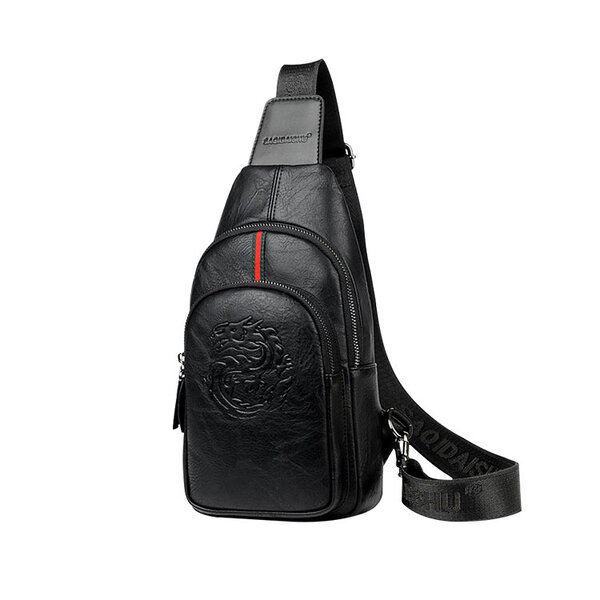 Whatna 革 斜めがけ ボディバッグ ワンショルダー メンズ イヤホン穴 付き 左右付け替え可能 本 革 厚手 レザー ブラウン 黒S6079元の画像