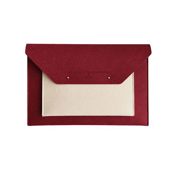 Whatna ブリーフケースA4 大きめセカン ドバッグ メンズ レディース バッグ 手持ち ペンホルダー付15.6インチ ipadpro 収納可 ビジネス封筒袋 資料ケース ct-01元の画像
